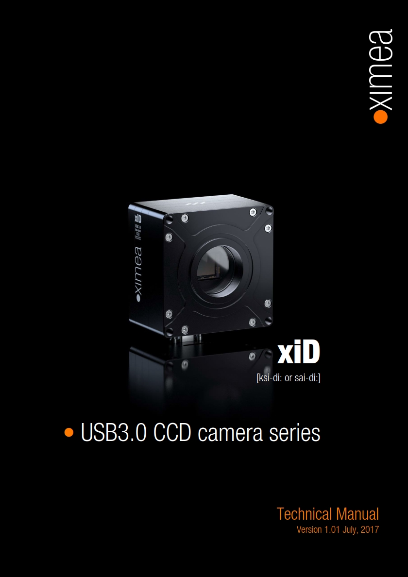 xid technical manual usb3 ccd Sony camera scientific grade