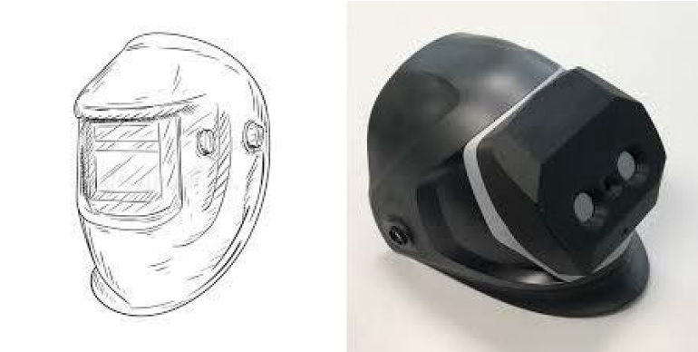 the 3D-welding helmet