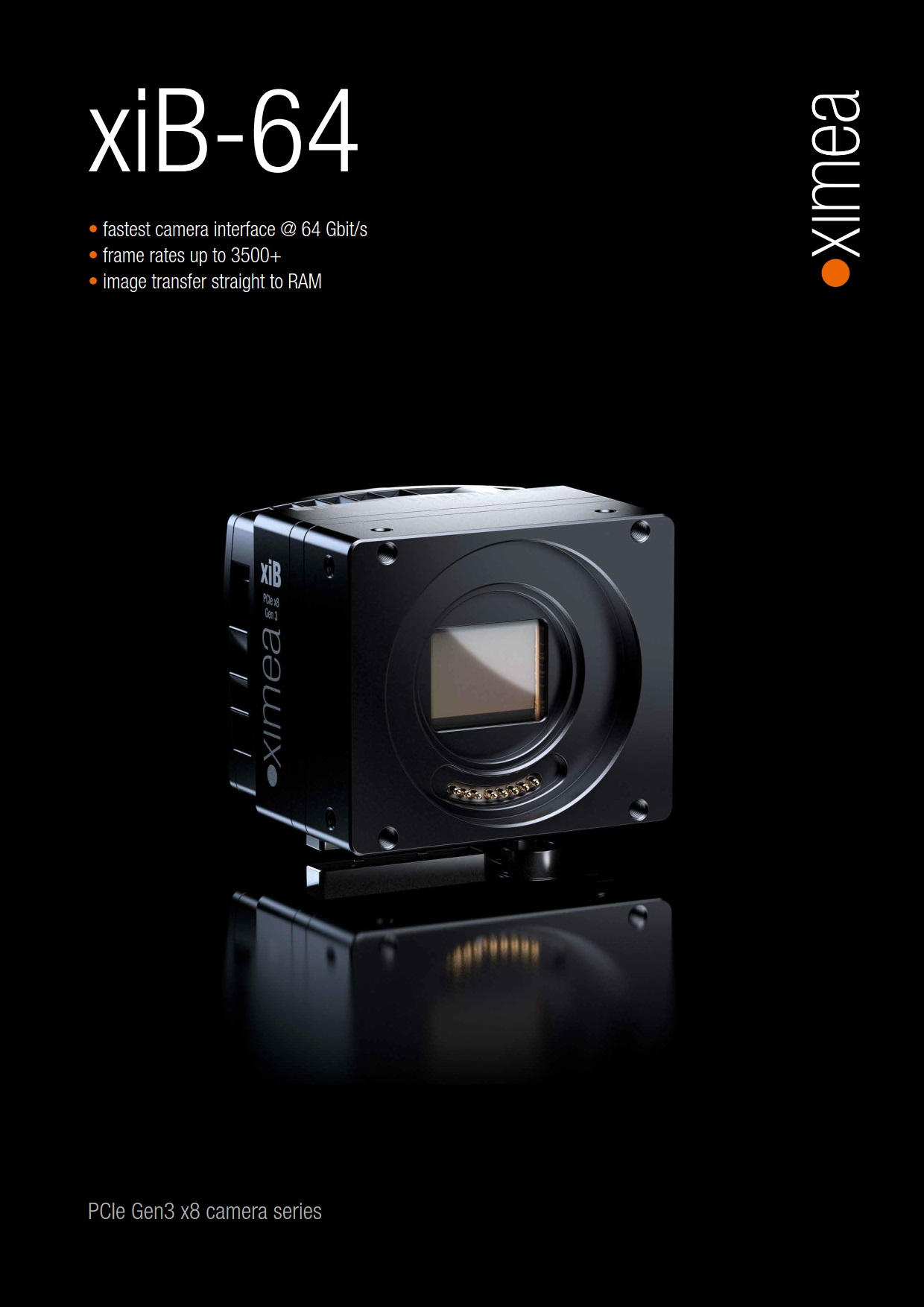 XIMEA - 3500 Fps high speed camera and other fast models are available