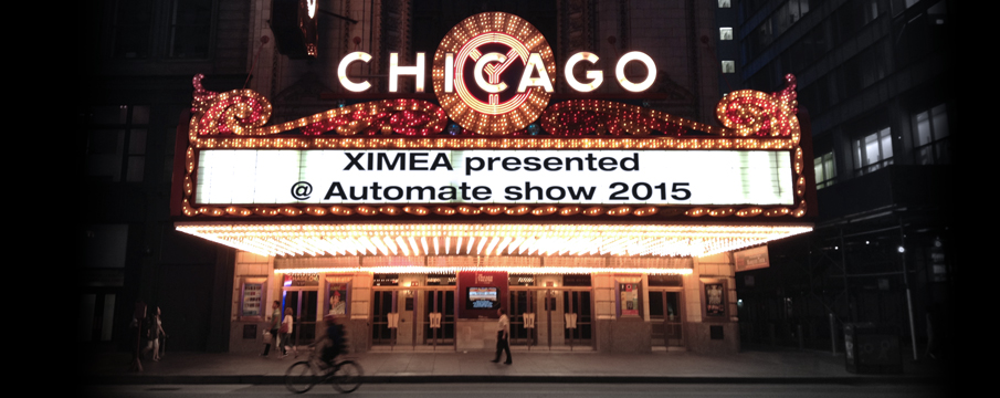 Automate 2015 show exhibition XIMEA Chicago cameras