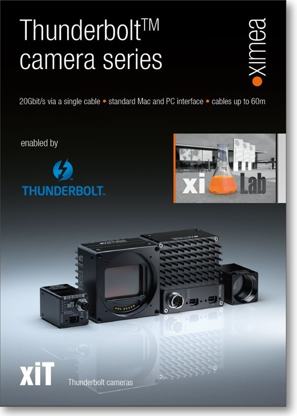 Thunderbolt industrial MAC OSX cameras smallest