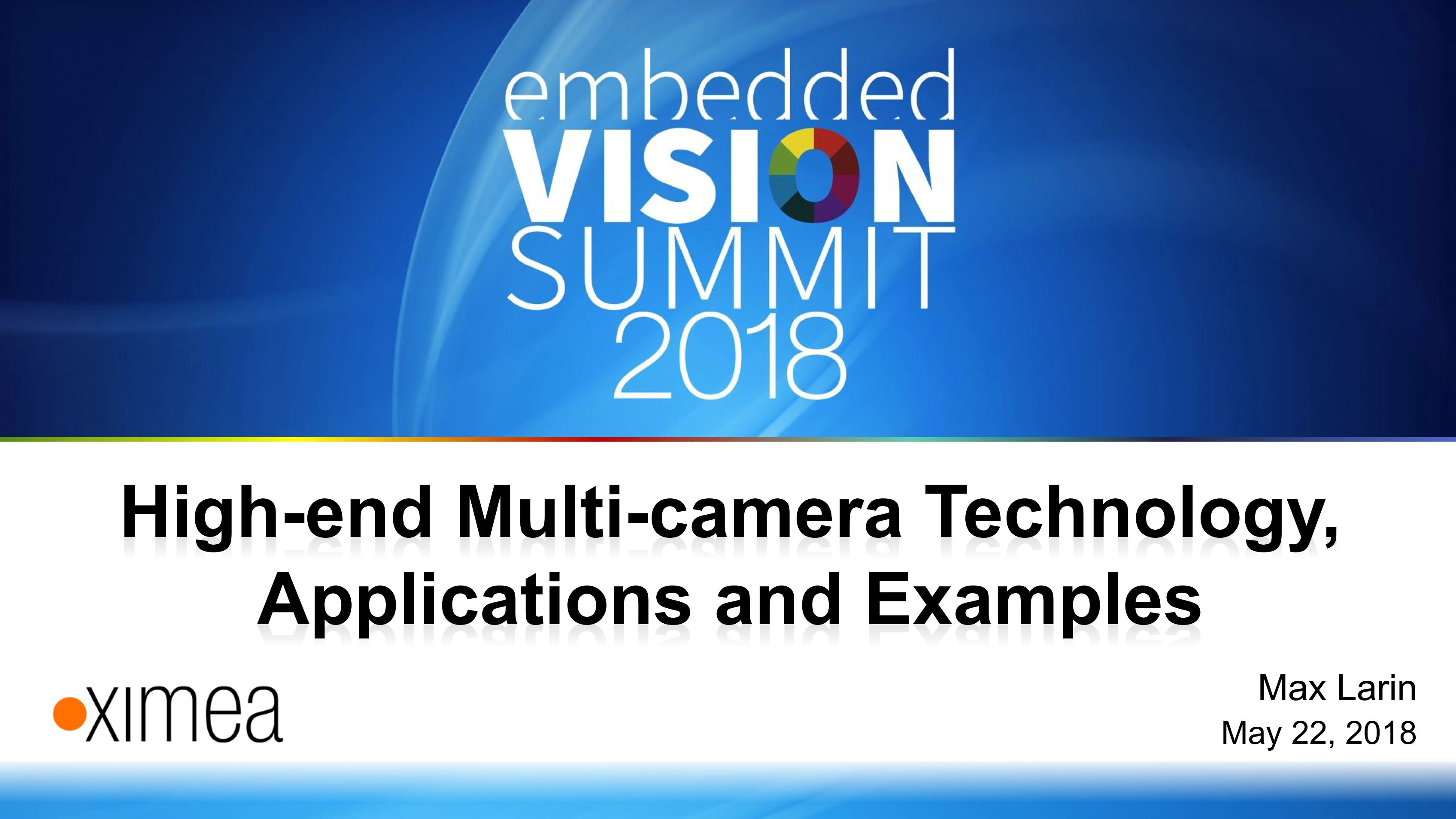 embedded vision systems cameras multiple setup high speed