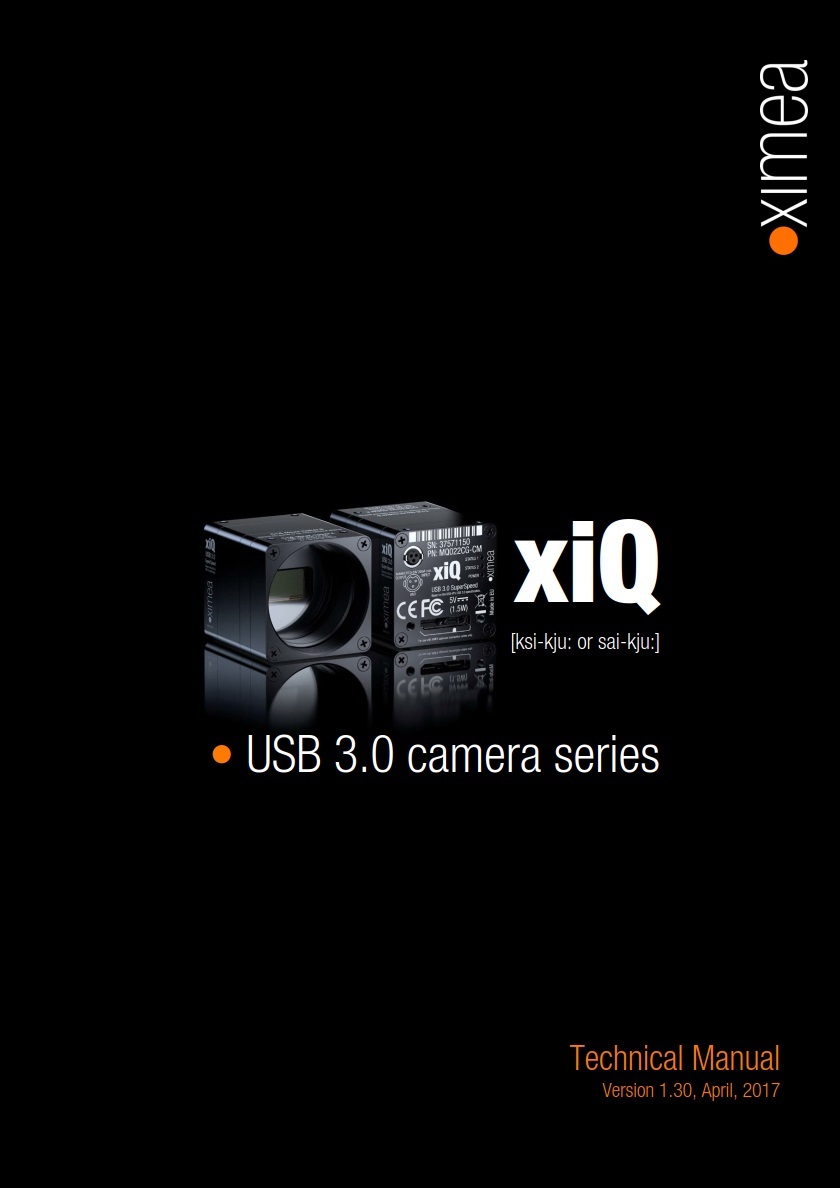 USB3 Vision camera manual USB 3.0 CMOSIS e2V ON Semiconductor Python 1300
