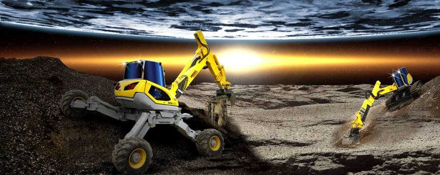 remotely operated walking excavator spider Menzi Muck cameras NVIDIA Jetson TX2