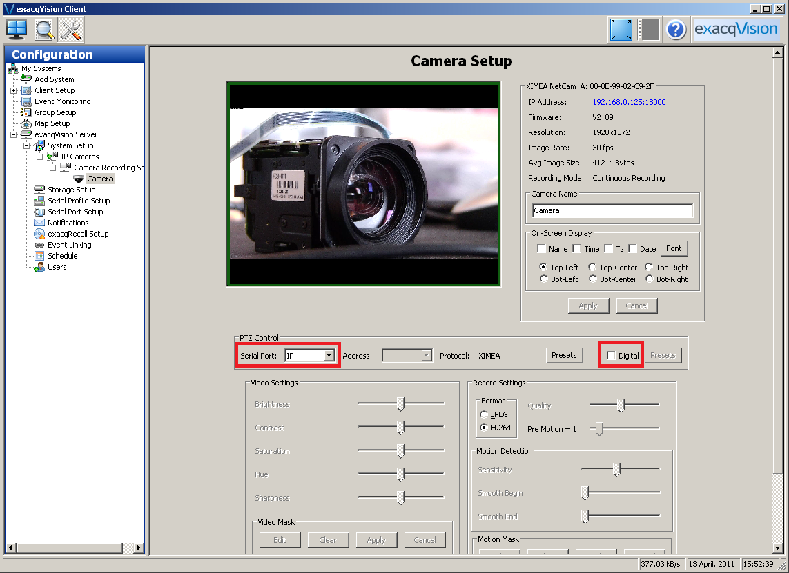how to find ip address of a camera