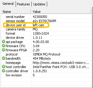 Setting a User ID to a Camera - All products - ximea support