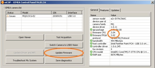 Firmware Updates - All products - ximea support