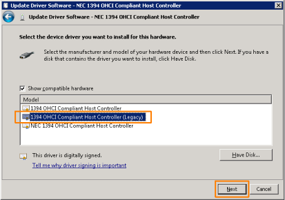 драйвер 1394 Ohci драйвер Windows 7 скачать - фото 5
