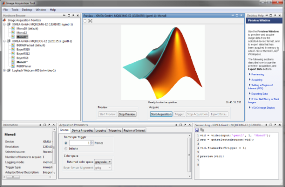MathWorks MATLAB - Vision Libraries - ximea support