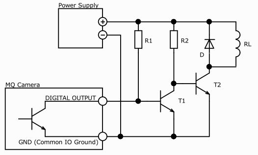 digital output wiring usb3 ximea support rh ximea com NPN Transistor Circuit Transistor Ignition Schematic