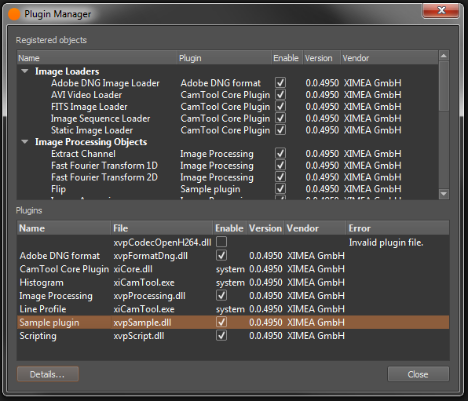 Camtool plugin - All products - ximea support